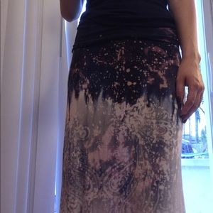 Bleach splattered Maxi Skirt